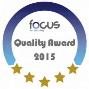 Agil8 wins Focus on Training Quality Award 2015